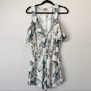 Show Me Your Mumu Leaf Print Romper